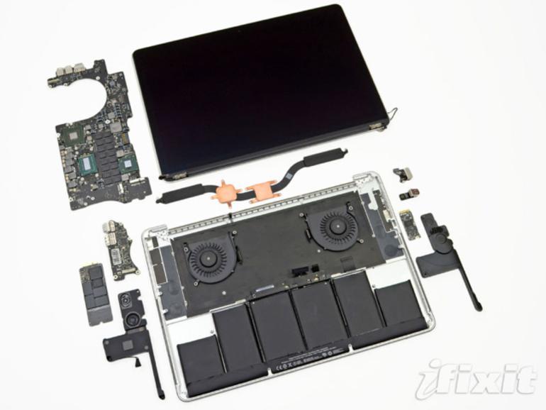 """iFixit zerlegt Retina-MacBook-Pro: """"Der am schlechtesten zu reparierende Laptop bisher"""""""
