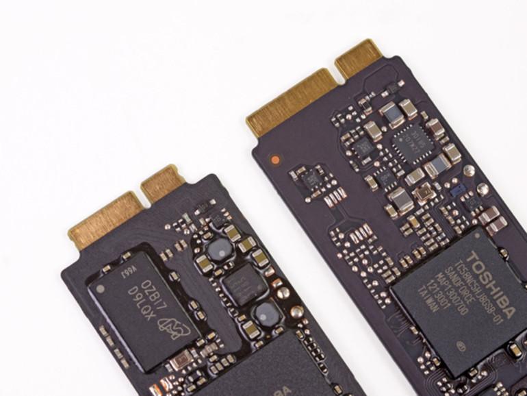 Der Connector der neuen MacBook Air SSDs.