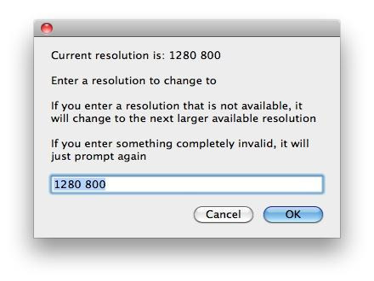 Change Resolution ist ein kleines Programm, mit dem sich an jedem Mac die Auflösung ändern lässt.