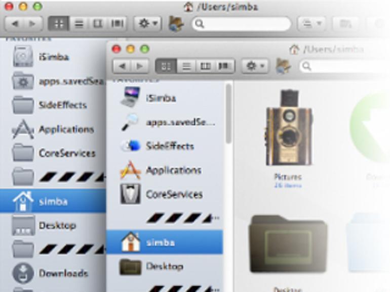 OS X Lion: So kommen die farbigen Icons zurück in den Finder