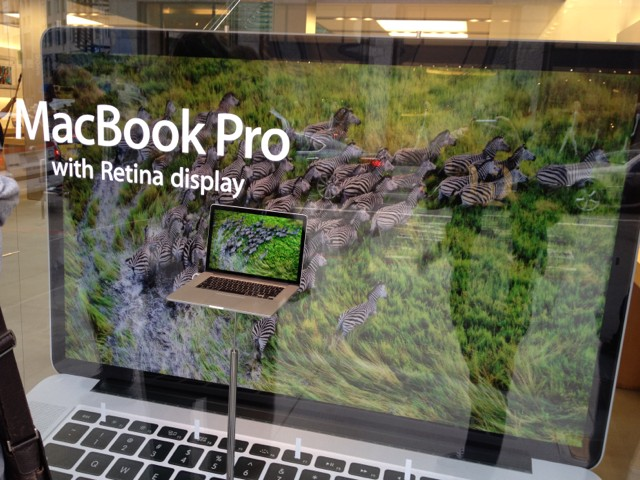 Apple stellt riesige MacBook-Pro-Modelle in Apple Stores auf