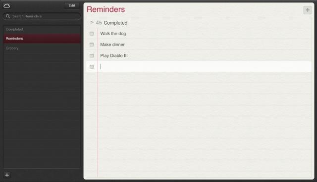"Die Erinnerungen.app in der iCloud sieht aus wie ihr iPad-Ebenbild. Via <a href=""http://www.cultofmac.com/176817/walkthrough-of-apples-new-notes-reminders-and-find-my-iphone-web-apps-from-the-icloud-beta/"">Cult of Mac</a>."