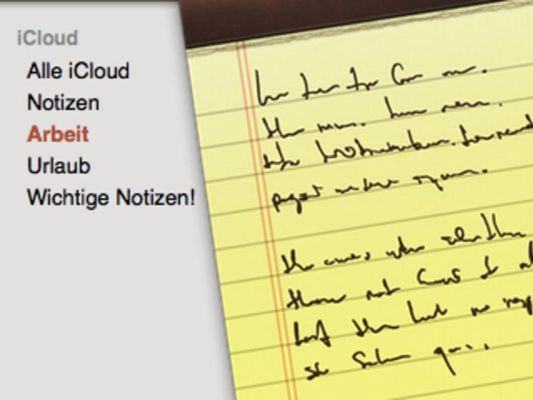 OS X Mountain Lion: Notizen, mit Ordnern für mehr Übersicht sorgen