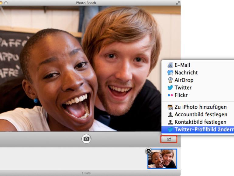 OS X Mountain Lion: Twitter & OS X – Twitter-Avatar via Photo Booth erstellen