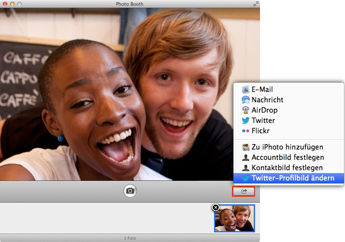 OS X Mountain Lion: Twitter & OS X – Twitter-Avatar via Photo Booth erstellen