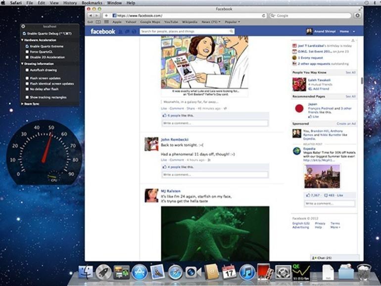 Ein MacBook Pro von 2011 war mit 46 bis 60 fps deutlich ruckelfreier unterwegs.