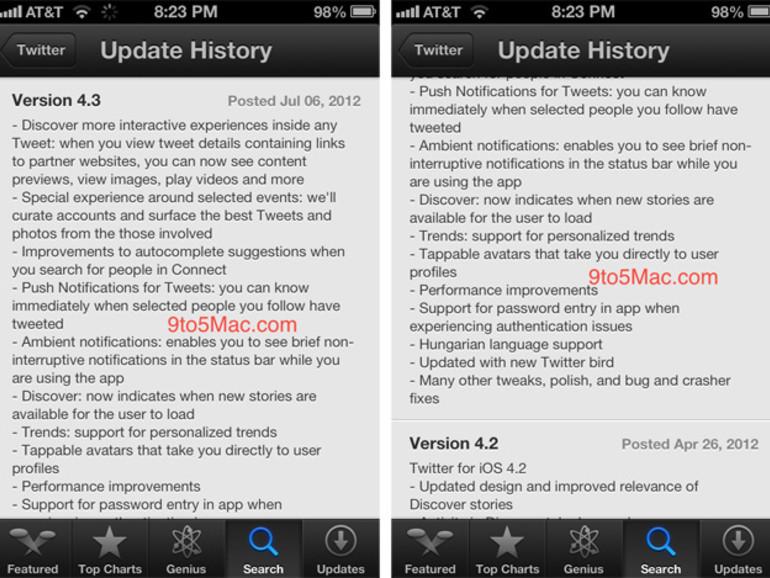 Twitter 4.3: Update der offiziellen Twitter-App bringt viele Neuerungen