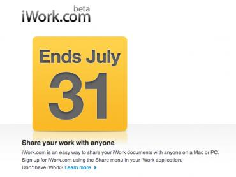 iWork.com: Apple erinnert Anwender an das Ende der öffentlichen Beta