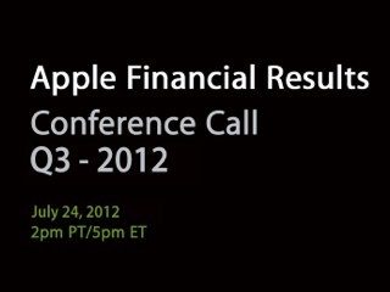 AAPL Q3 2012: Bekanntgabe aktueller Apple-Geschäftszahlen für den 24. Juli angekündigt