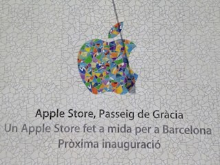 Apple schmückt Retail Store in Barcelona