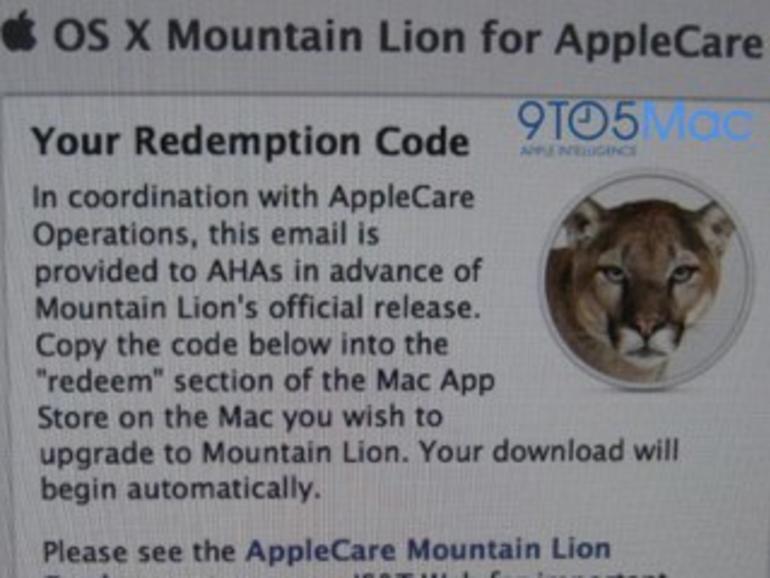 AppleCare-Mitarbeiter erhalten OS X Mountain Lion vorab des Verkaufsstarts