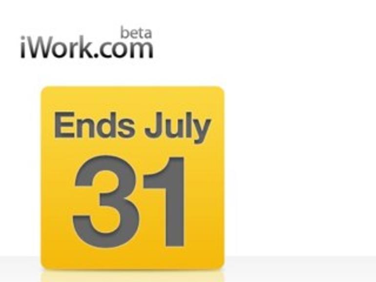 Stichtag 31. Juli: iWork.com nur noch eine Woche erreichbar