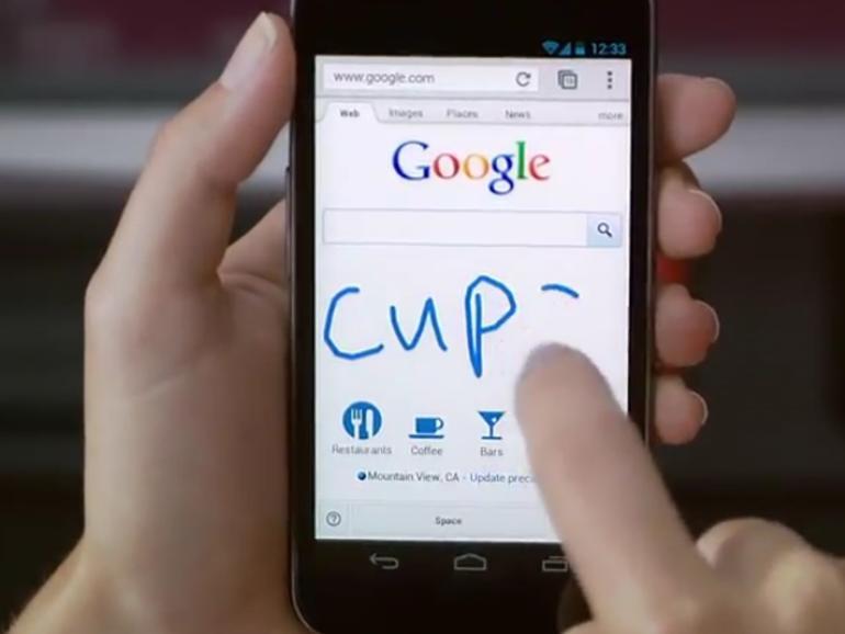 Google-Suche auf dem iPhone erkennt Handschrift