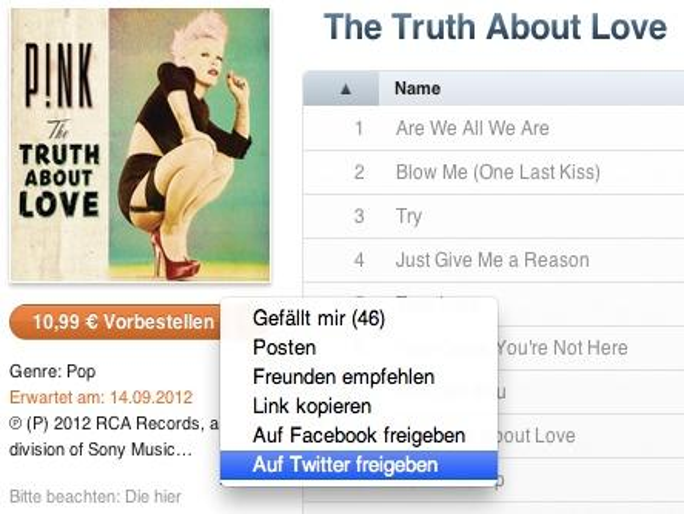 Apple und Twitter arbeiten an weitreichenderer Twitter-Integration in iTunes