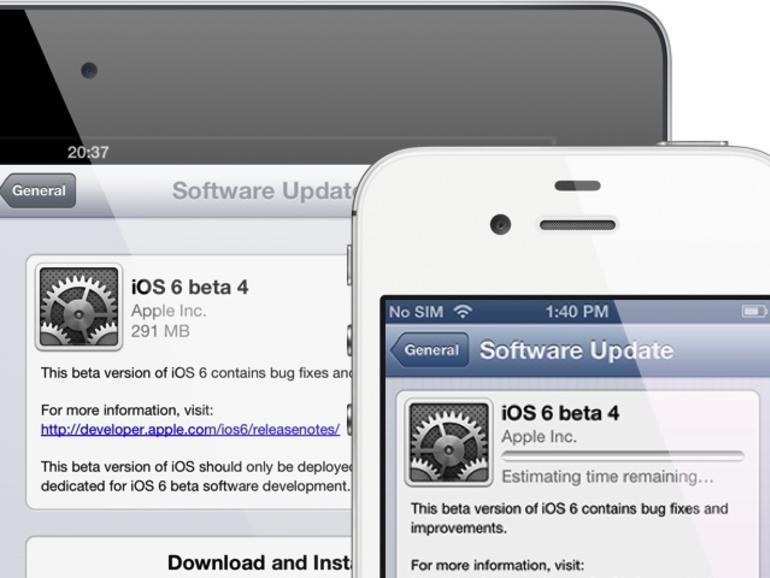 Apple veröffentlicht iOS 6 Beta 4, entfernt YouTube-App