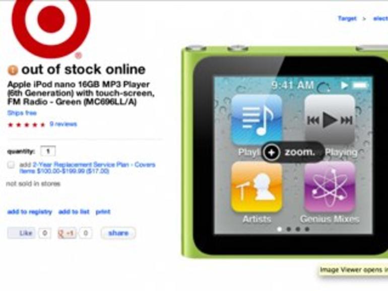 iPod nano: Lieferengpass als Hinweis auf neue Hardware-Generation
