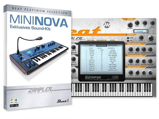 MiniNova Sound-Kit für Beat Zampler