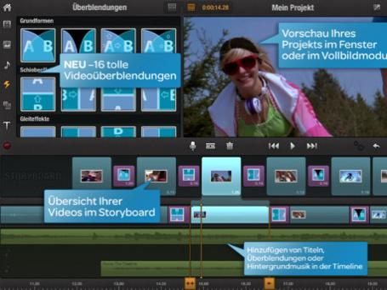 iPad-Videoschnitt: Avid Studio wird durch Pinnacle Studio ersetzt