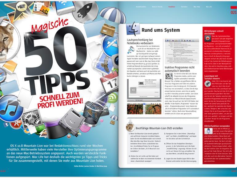 Mac Life 10.2012: 50 magische Mountain-Lion-Tipps u. v. m.