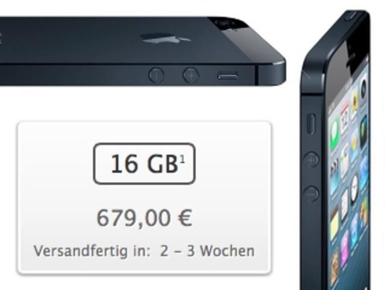 """iPhone 5: Erste Charge ausverkauft, neue Bestellungen """"Versandfertig in: 2-3 Wochen"""", Lightning-Adapter erst ab Oktober wieder lieferbar"""