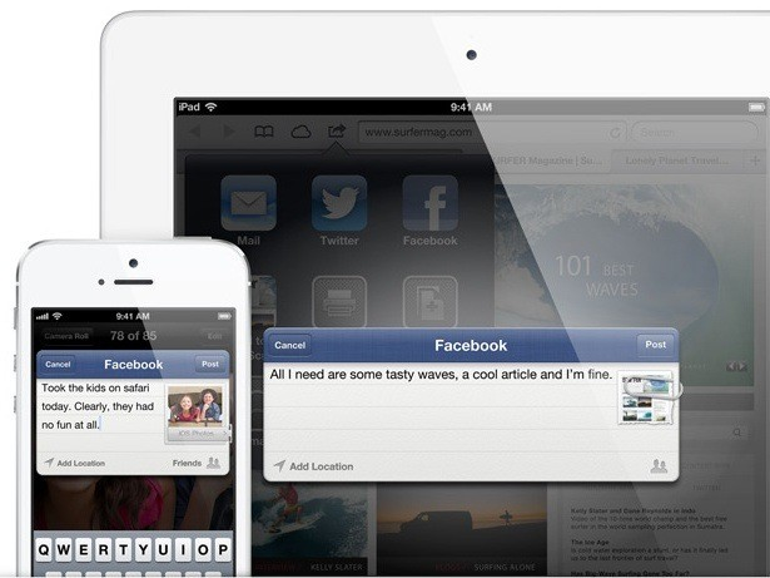 iOS 6: Direkte Anbindung an Facebook