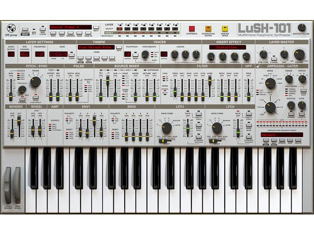D16 LuSH-101 - Multitimbraler Software Synth