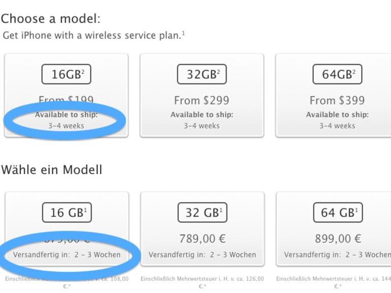 iPhone 5: In den USA erst in einem Monat wieder lieferbar