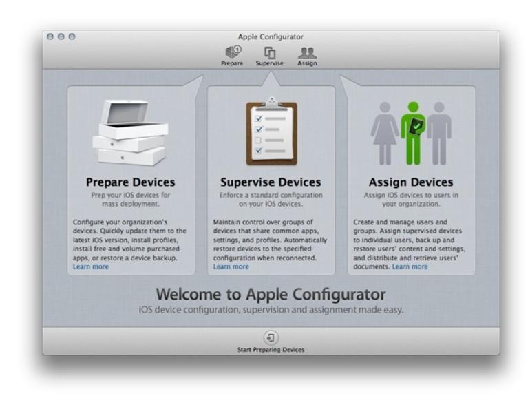 Mehrere iOS-Geräte verwalten: Apple Configurator auf Version 1.2 aktualisiert