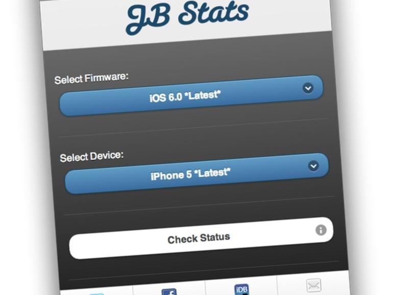 """Lässt sich mein iPhone """"jailbreaken"""":JB Stats-Web-App gibt die Antwort"""