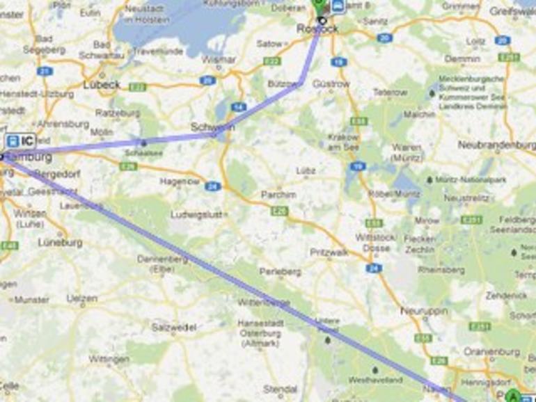 Spaß mit der Deutschen Bahn: Google Maps liebt Umwege