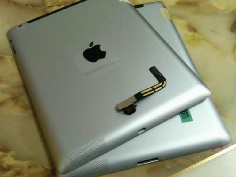 Schnappschuss zeigt iPad-3-Gehäuse mit Lightning-Anschluss