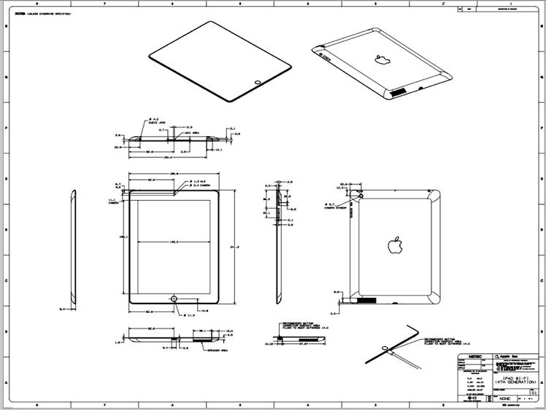 iPad mini und iPad 4 im Detail: Technische Zeichnungen stehen zum Download bereit