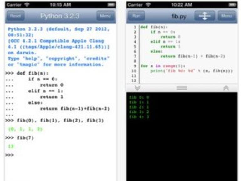 Python 3.2: Python-Coding auf dem iPhone