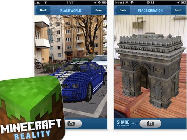 Minecraft Reality: Pixelkunst trifft auf Augmented Reality
