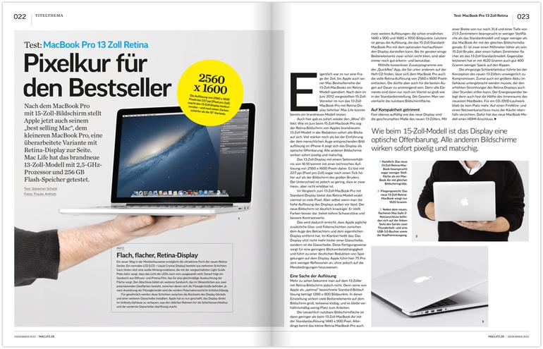 Test: MacBook Pro 13 Zoll Retina, SSD-Spezial: Tests und Workshops, u. v. m.