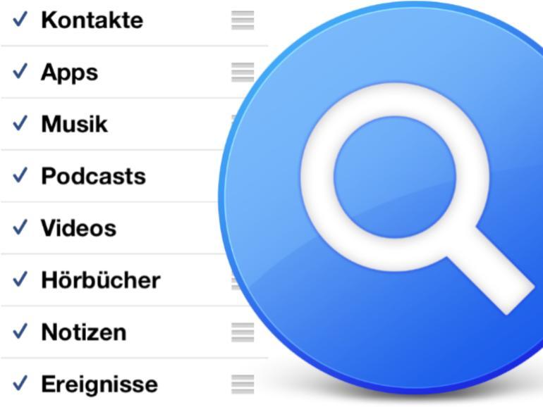 iOS: Spotlight auf dem iPhone, iPad und iPod touch anpassen