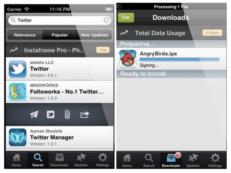 Raubkopierte Apps ohne Jailbreak