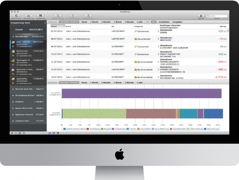 Version 1.1: Neue Funktionen für die Mac-Version von StarMoney