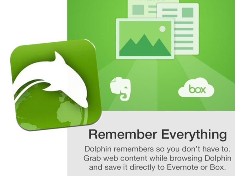 Dolphin unterstützt Evernote Web Clipper