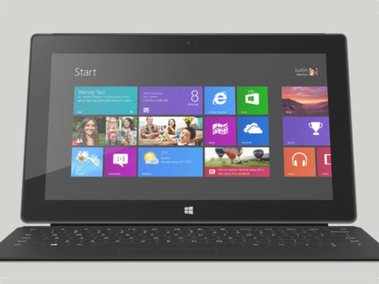 Surface RT, Surface Pro und iPad 4 im Vergleich