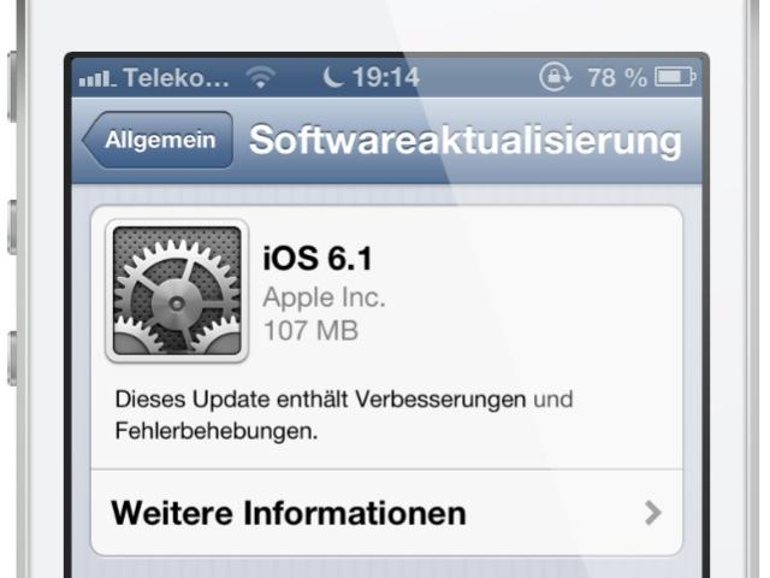 Apple veröffentlicht iOS 6.1, Jailbreak in Kürze?
