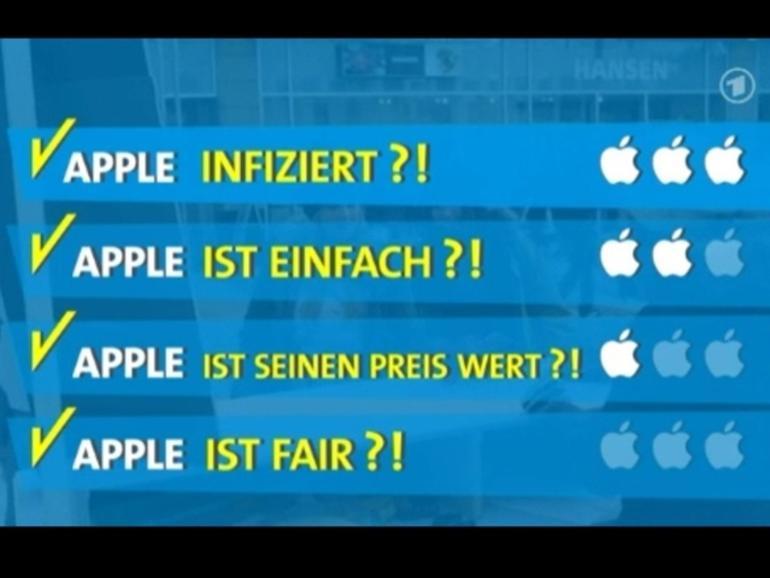 ARD-Markencheck: Apple ist unfair, seinen Preis nicht wert und irrational beliebt