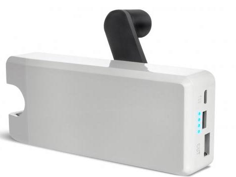 Notfall-Akku BoostTurbine lädt Smartphone-Akkus auf