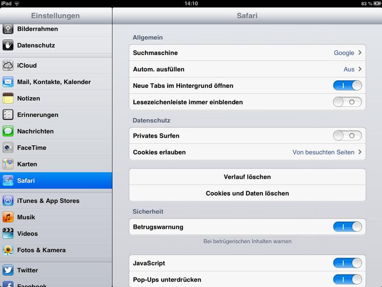 iOS: Cache beim iPhone, iPad und iPod touch entleeren