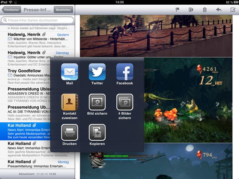 iOS: E-Mail-Anhang auf iPhone und iPad speichern