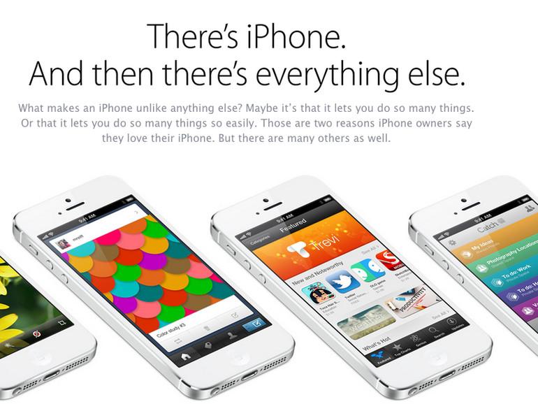 Apple überarbeitet iPhone-5-Seite nach Galaxy-S4-Präsentation
