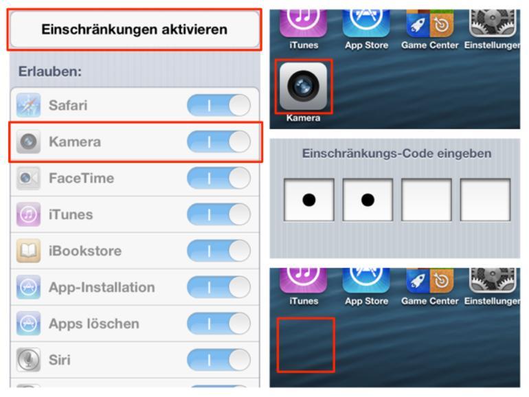 So deaktivieren Sie die mitgelieferten Apps von Apple.