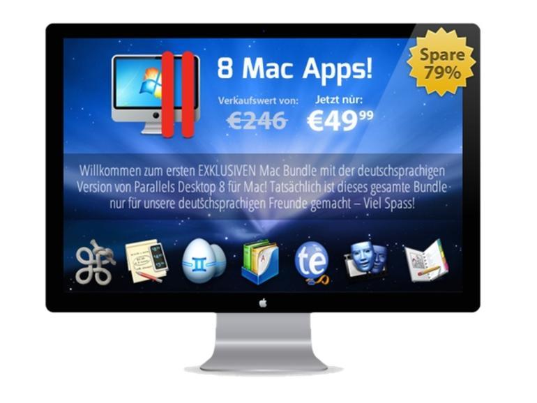 Super-Schnäppchen: Das deutsche Mac Bundle mit Parallels 8