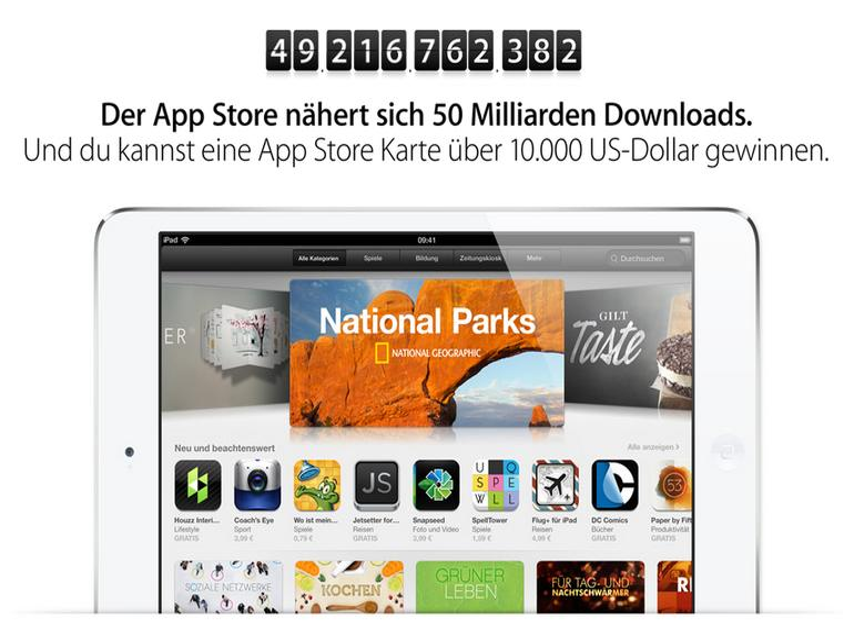 50 Milliarden verkaufte Apps: Apple startet Countdown