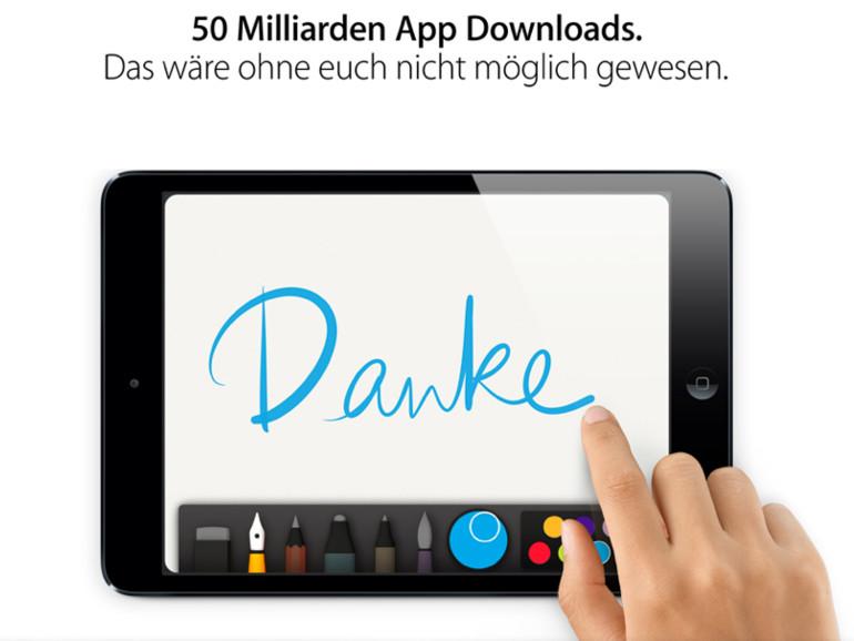 Meilenstein für Apple: App Store erreicht 50 Milliarden Downloads